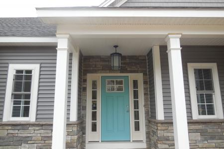 cultured stone on front entry